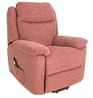 GFA The Oxford - Riser Recliner/Lift and Tilt Chair in choice of fabric colours (red)