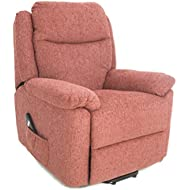 GFA The Oxford - Riser Recliner/Lift & Tilt Chair In Soft Red Fabric