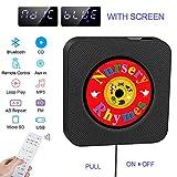 La'prado Lettore CD portatile, Altoparlante HIFI incorporato, Lettore musicale MP3 USB Bluetooth con radio FM Home Audio, jack AUX da 3,5 mm, interruttore per cavo per bambini, amici ecc.