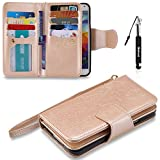Galaxy S5 Hülle, Galaxy S5 Tasche, Huphant Flip Case [9 Credit Cards & Imprited Girl in Floral Skirt Serie]PU Leather Case Wallet Book Case Schutzhülle Samsung Galaxy S5(5.1