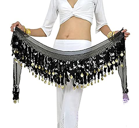 BellyQueen One Size Women 160cm Belly Dance Costume Double Layers