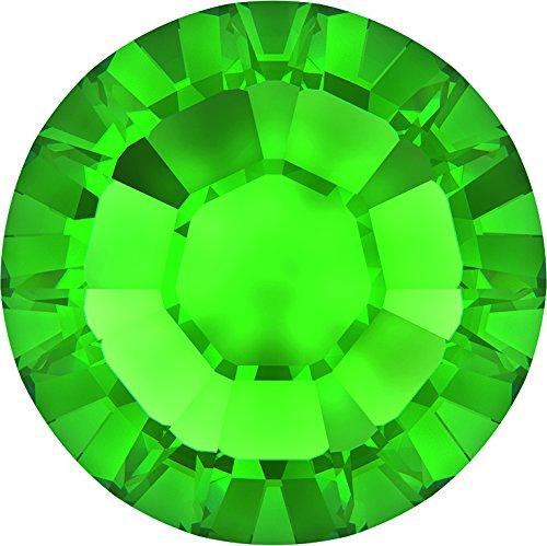 Swarovski Kristalle 1151753 Strasssteine Hotfix 2038 SS 12 FERN Green A HF, 1440 Stück
