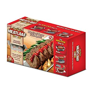 Allstar Marketing Group PE011106 Perfect Meatloaf Loaf Pan Set - As Seen On TV