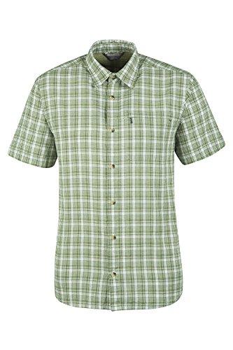mountain-warehouse-camisa-de-algodon-holiday-para-hombre-verde-m