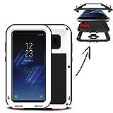 Finoo Wasserdichte Outdoor Handy Hülle für Samsung Galaxy S7 Edge mit Aluminium Legierung   Stoßfestes Robustes Metall Armor Case Cover   Panzer Hülle   Farbe weiß