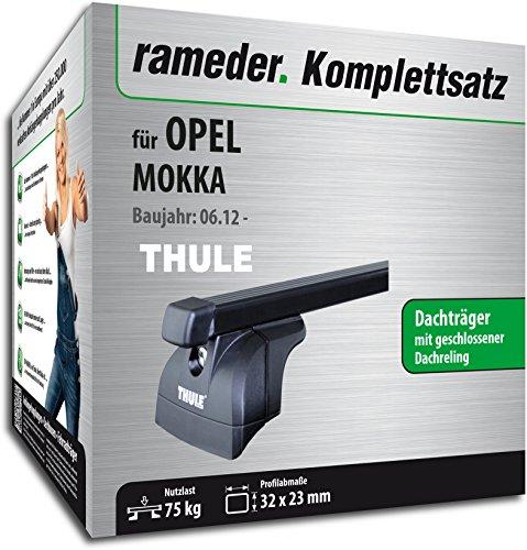 Rameder Komplettsatz, Dachträger SquareBar für Opel MOKKA (116392-10264-1)