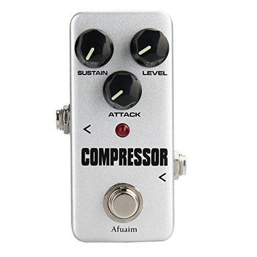 Afuaim Pedal de Efectos Compresor True Bypass para Guitarra
