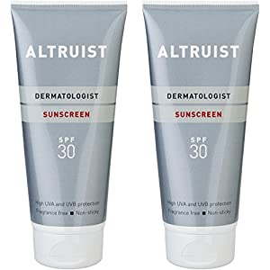 ALTRUIST. Dermatologist Sunscreen SPF 30 – Superior 5-star UVA protection by Dr Andrew Birnie, suitable for sensitive skin - 2 x 200 ml