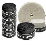10 pcs surgrips Pro's Pro pur le tennis, le badminton, le squash (noir)