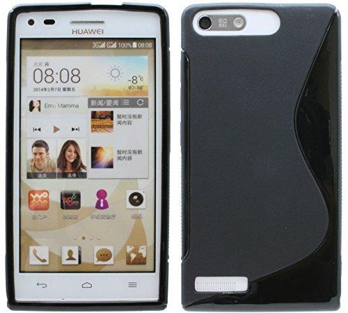 Huawei Ascend G6 // Silikon Hülle S-Line Tasche Case Zubehör Schale in Schwarz @ Energmix
