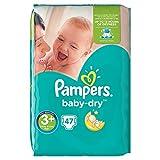 Pampers Baby-Dry Windeln, 47Windeln, Gr. 3+ für Babys von 6–10kg–2Stück