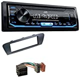 caraudio24 JVC KD-X151 1DIN USB Aux MP3 Autoradio für Renault Scenic (ab 09) Grau