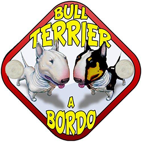 Placa bebé a bordo Bull Terrier a bordo perro a bordo