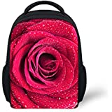 YOUNGERBABY 12inch Flower Print Fashion Backpack For Teen Girls School Bag For Kid