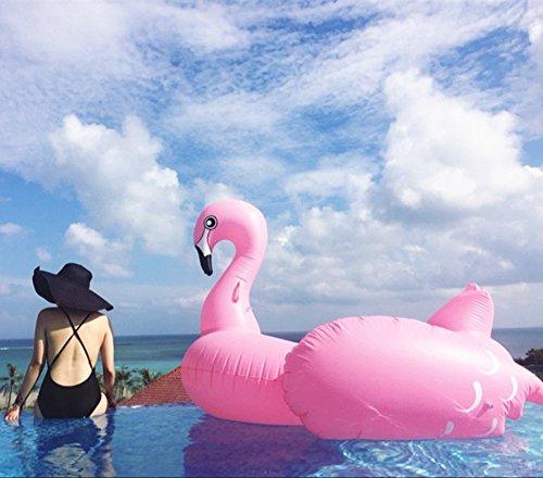Aufblasbarer Flamingo Luftmatratzen, Float-Spielzeug, Pool schwimmen, Pool Float Halterungen, PVC-aufblasbarer Schwebebett für 2-3 Personen, für Open Space für Allgemein /Erwachsene /Kinder