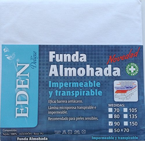 Funda almohada impermeable y transpirable 90cm,100% algodón,HC Enterprise
