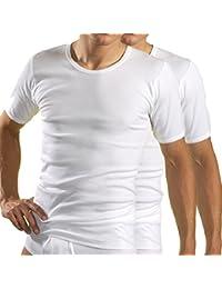 HERMO 3840 2 Business Shirts Homme à manche courte, Maillot de corps en 100% coton d'Europe