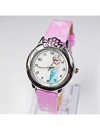 Disney Frozen Kids Child 3D reloj de pulsera de cuarzo niñas Elsa niños regalo de cumpleaños