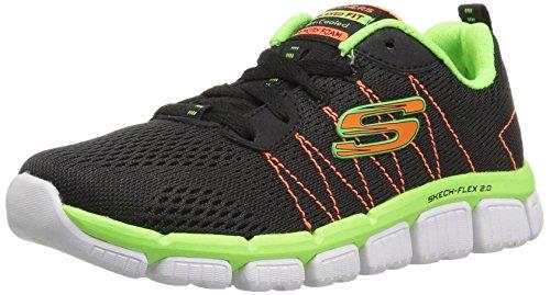 Skechers Jungen Skech Flex 2.0-Quick Pick Sneaker, Schwarz (Black/Lime), 34 EU