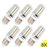 8W E27 LED lampe Leuchtmittel & Birne Mais Licht 120 x 3014 SMD LEDs Mit PCB-Mantel (750-800LM AC 85-240V Warmweiß 3200K 360ºAbstrahlwinkel Ø31.2×93.4mm) Energiespar licht