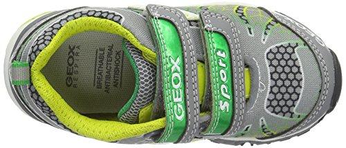 Geox J Bernie B, Sneakers Basses Garçon Gris (Grey/limec0666)
