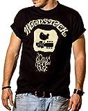MAKAYA Hippie T-Shirt für Herren WOODSTOCK schwarz Größe XXXL