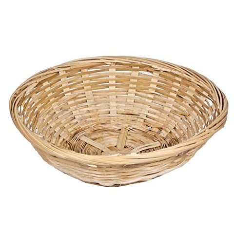 Get Goods Round 20cm Wicker Baskets - Weaved Bamboo Wicker - Kitchen Storage Hampers (12 Baskets) by Get Goods