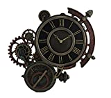 Steampunk astrolabio reloj de pared bronce fundido en frío Color oscuro