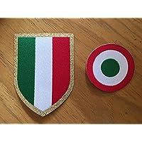 Footex Patch cocarde Coupe Italie + écusson série à 2016–17pour tricot Juventus