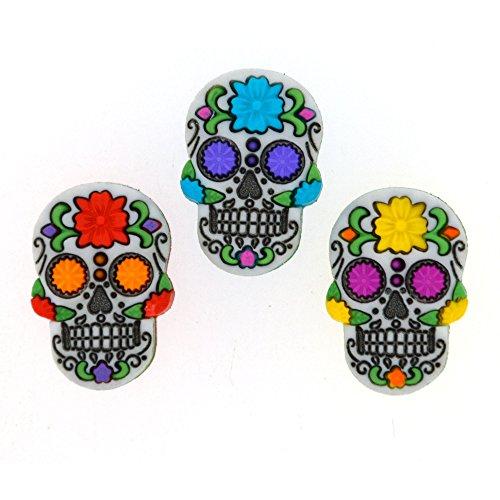 Sugar Skulls-Kunststoff Neuheit Craft Tasten & Verzierungen von Kleid IT UP