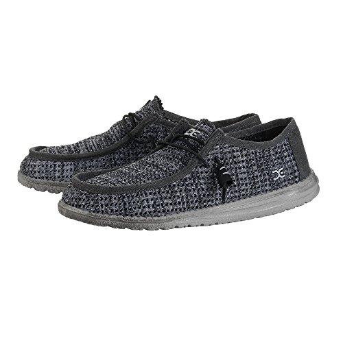 Mec Chaussures Sox Wally Mâle Perforé Noir Gris Gris