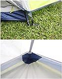 GEERTOP Bivvy Biwaksack Trekkingzelt Campingzelt Zelt Minipack Leicht – 213 x 101 x 91 cm H (1,9kg) -1 Person 3 Jahreszeiten für Outdoor-Camping Wandern Reisen und Klettern (grau) - 6