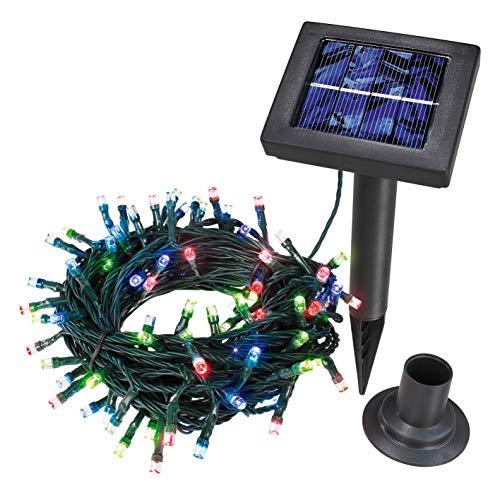 Esotec 102103 Guirlande lumineuse 100 LED colorées Énergie solaire