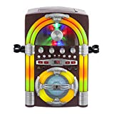 Singing Machine SML645BT Jukebox Bluetooth Karaoke Machine With Lights and Microphone