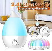 Torix Big Size Electric ultrasonic Wave Humidifier 2.4 Litre Air Purifier Air Freshener Switch LED Sleeping Li