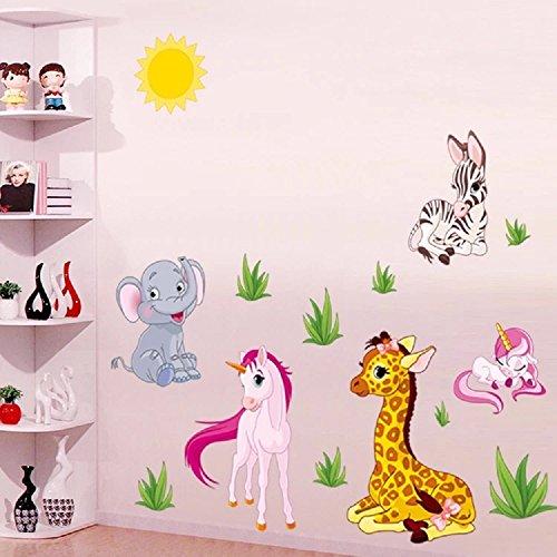 sticker4u-mural-sticker-mural-zuckersusse-baby-safari-animaux-et-licornes-effet-image-154-x-53-cm-li