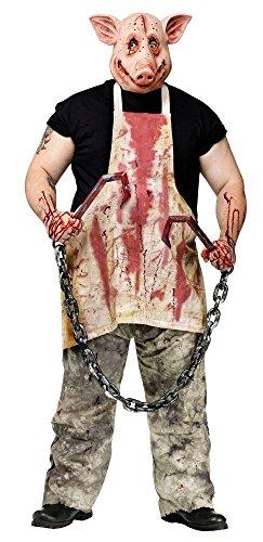 shoperama Horror Kostüm Schweine Ausbeiner - Maske und -