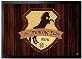 1art1 102138 Restaurants - Zum Tänzelnden Pony Fußmatte Türmatte 70 x 50 cm