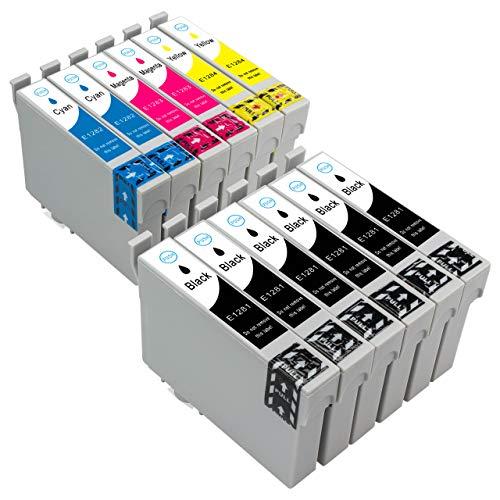 ESMOnline 12 komp. Druckerpatronen für Epson Stylus SX445W SX440W SX435W SX420W SX235W SX130 SX125 S22 Stylus Office BX305FW Plus BX305FW BX305F