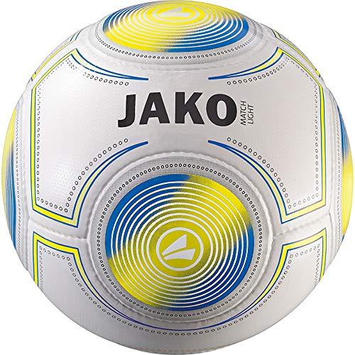 JAKO Herren Fußball Match Light, weiß-gelb blau, 5 -