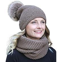HILLTOP - ensemble hiver avec écharpe et bonnet assorti (bonnet avec pompon) d104e2e16b2