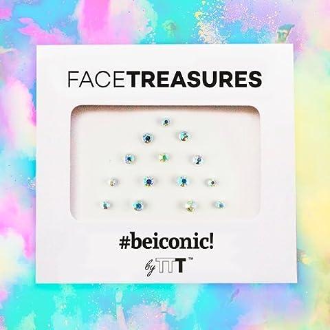 Hologram effect facetrasures set - Face gems stick - Bindi dots
