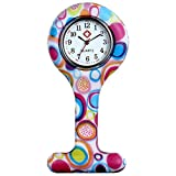 lancardo Uhren,Krankenschwester Armbanduhr FOB-Uhr Damen Taschenuhr Analog Quarzuhr aus Silikon , Mehrfarbig