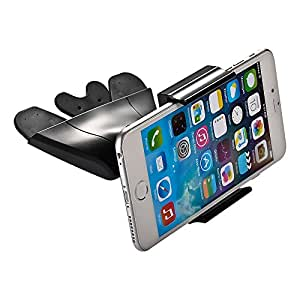 "Mudder Universal CD Slot Mount Holder Stand Clip for 3.5"" - 5.5"" Smartphones for iPhone 6 6+ 5S 5C 5 4S 4, Samsung Galaxy S5, S4, Note, Note 2, Nexus S, HTC One X, S, Motorola Droid Razr HD, Maxx, Nokia Lumia 920, LG Optimus G and GPS Devices"