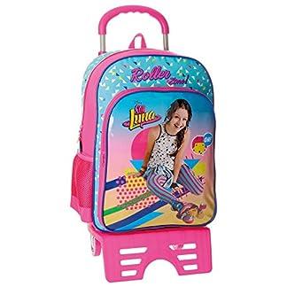 518aQ7V6KGL. SS324  - Disney Soy Luna Roller Zone Mochila Escolar, 40 cm, 15.6 Litros, Multicolor