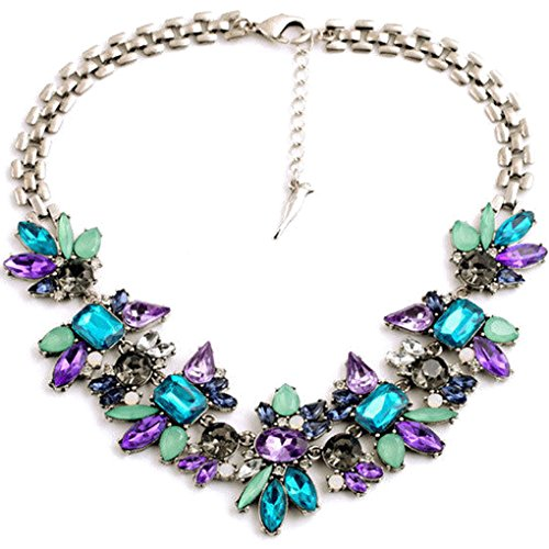 lufa-fashion-flower-geometric-metal-alloy-women-collarbone-short-necklace-jewelry-colorful455cm