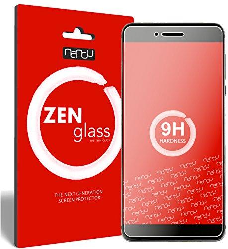 nandu I ZenGlass Flexible Glas-Folie für Vernee Mars Pro Panzerfolie I Bildschirm-Schutzfolie 9H I (Kleiner Als Das Gewölbte Bildschirm)