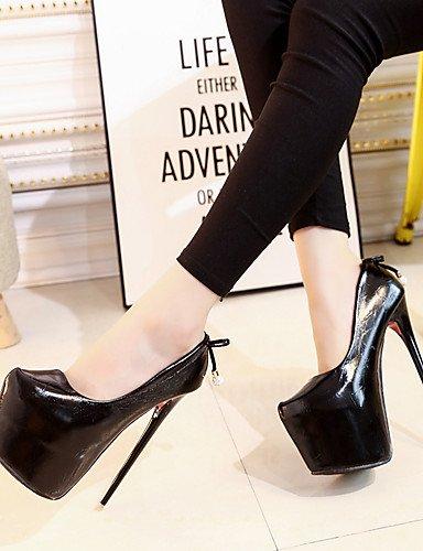WSS 2016 Chaussures Femme-Bureau & Travail / Décontracté / Soirée & Evénement-Noir / Argent-Talon Aiguille-Talons / Bout Pointu-Chaussures à Talons silver-us6.5-7 / eu37 / uk4.5-5 / cn37