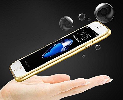 Hülle für iPhone 7, KOBWA Protective Case Cover für iPhone 7 Anti-scratch Plating TPU Silicone Clear Bumper Schlanke Hülle für iPhone 7 4.7inch (2016) Gold