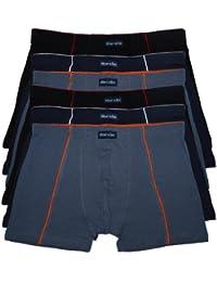Set - Auswahl! 6er Pack softe & elastische Herren Retro - Boxershorts - Retroboxer in klassischen und modischen Farben Boxershort Pants Herrenpants Boxer Grösse 4 -10